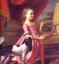 COPLEY YOUNG LADY WITH A BIRD AND DOG, 1767, OIL ON CANVAS,