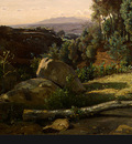 Corot A View near Volterra, 1838, Detalj 4, NG Washington