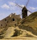 Corot A Windmill in Montmartre