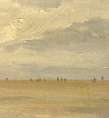 Corot Beach near Etretat, 1872, Detalj 3, NG Washington