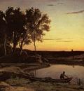 Corot Evening Landscape aka The Ferryman Evening