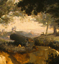 Corot Forest of Fontainebleau, c  1830, Detalj 3, NG Washing