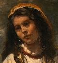corot gypsy girl with mandolin, probably c  1870 1875, det
