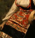 Corot Italian Girl, c  1871 1872, Detalj 3, NG Washington