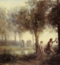 Corot Orpheus Leading Eurydice from the Underworld