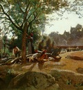Corot Peasants Under the Trees at Dawn, Morvan c 1840 45 NG