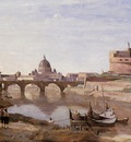 Corot Rome Castle Sant Angelo