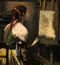 Corot The Artists Studio, c  1855 1860, Detalj 3, NG Washin