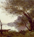 corot the boatman of mortefontaine, ca 1865 1870, 60 9x89