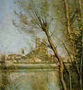 Corot The Cathedral of Mantes, 1865 1869, Musee Saint Denis,