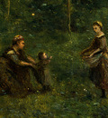 Corot The Eel Gatherers, c  1860 1865, Detalj 3, NG Washingt
