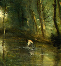 Corot The Eel Gatherers, c  1860 1865, Detalj 5, NG Washingt