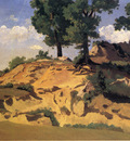 Corot Trees and Rocks at La Serpentara