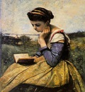 Corot Woman reading in a landscape 1869 The Metropolitan Mus