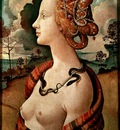 Piero di Cosimo Portrait of a young woman, Musee Conde, Chan