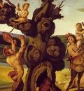 piero di cosimo the discovery of honey, detalj 2, ca 1505