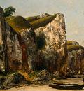 Courbet Beach in Normandy, 1872 1875, Detalj 1, NG Washingto