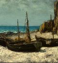 Courbet Boats on a Beach, Etretat, after 1869, Detalj 2, NG