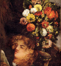 Courbet Gustave Head Of A Woman With Flowers
