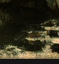 Courbet La Grotte de la Loue, 1864, Detalj 4, NG Washington