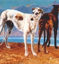 courbet greyhounds of comte de choiseul