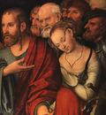 CRANACH Lucas the Younger Christ And The Fallen Woman