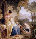 Cristall Joshua Scottish peasant girl embroiding Sun