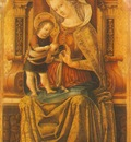 CRIVELLI VIRGIN AND CHILD ENTHRONED, MUSEUM OF FINE ARTS, BU