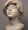 Dalou Jules Aime Young Woman Wearing a Headscarf