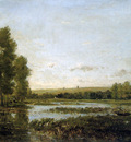 Daubigny Charles Bords de reviere Sun