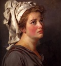 David Jacques Louis Portrait of a young Woman in a Turban