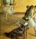 Degas Ballet Class, 1881, oil on canvas, Philadelphia Museum