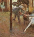 Degas Ballet Rehearsal, 1891, oil on canvas, Yale University
