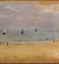 Degas Beach with Sailing Boats, 1869 c