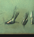 Degas Dancer Seen fro Behind and 3 Studies of Feet c1878 de