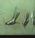 Degas Dancer Seen fro Behind and 3 Studies of Feet c1878 de