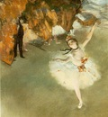 Degas Letoile ou La danseuse sur la scene, 1878, Pasel on p