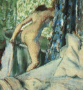 Degas The Morning Bath, 1890, pastel on paper, The Art Insti
