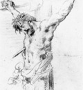delacroix eugene christ on the cross sketch
