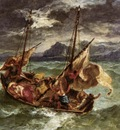 DELACROIX Eugene Christ on the Lake of Gennezaret