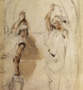 DELACROIX Eugene Two WOmen at the Well