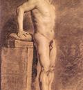 Delacroix Eugene Male Academy Figure