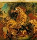 Delacroix Lion hunt, 1854, 86x115 cm, Musee dOrsay, Paris