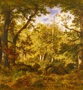 Pena Narcisse Virgile Diaz De La A Sunlit Clearing In The Forest At Fontainbleau