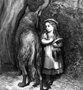 Gd 0001 Red Riding Hood meets old Father Wolf GustaveDore sqs