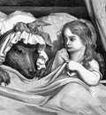 Gd 0003 She was astonished to see how her grandmother looked GustaveDore sqs