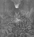 pl044 Dreadful was the din Of hissing through the hall, thick swarming now With complicated monst