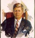 JFK portrait by William Franklin Draper