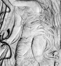 An angel drawing back a curtain WGA