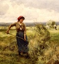 Dupre, Julien Woman Raking Hay end